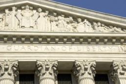 Back of U.S. Supreme Court
